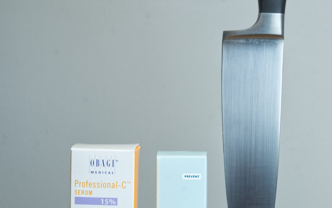 Knife Block Approach to Skin Care: Vitamin C Serum